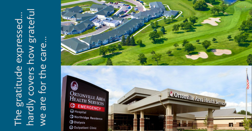A Letter of Gratitude for Ortonville Area Health Services