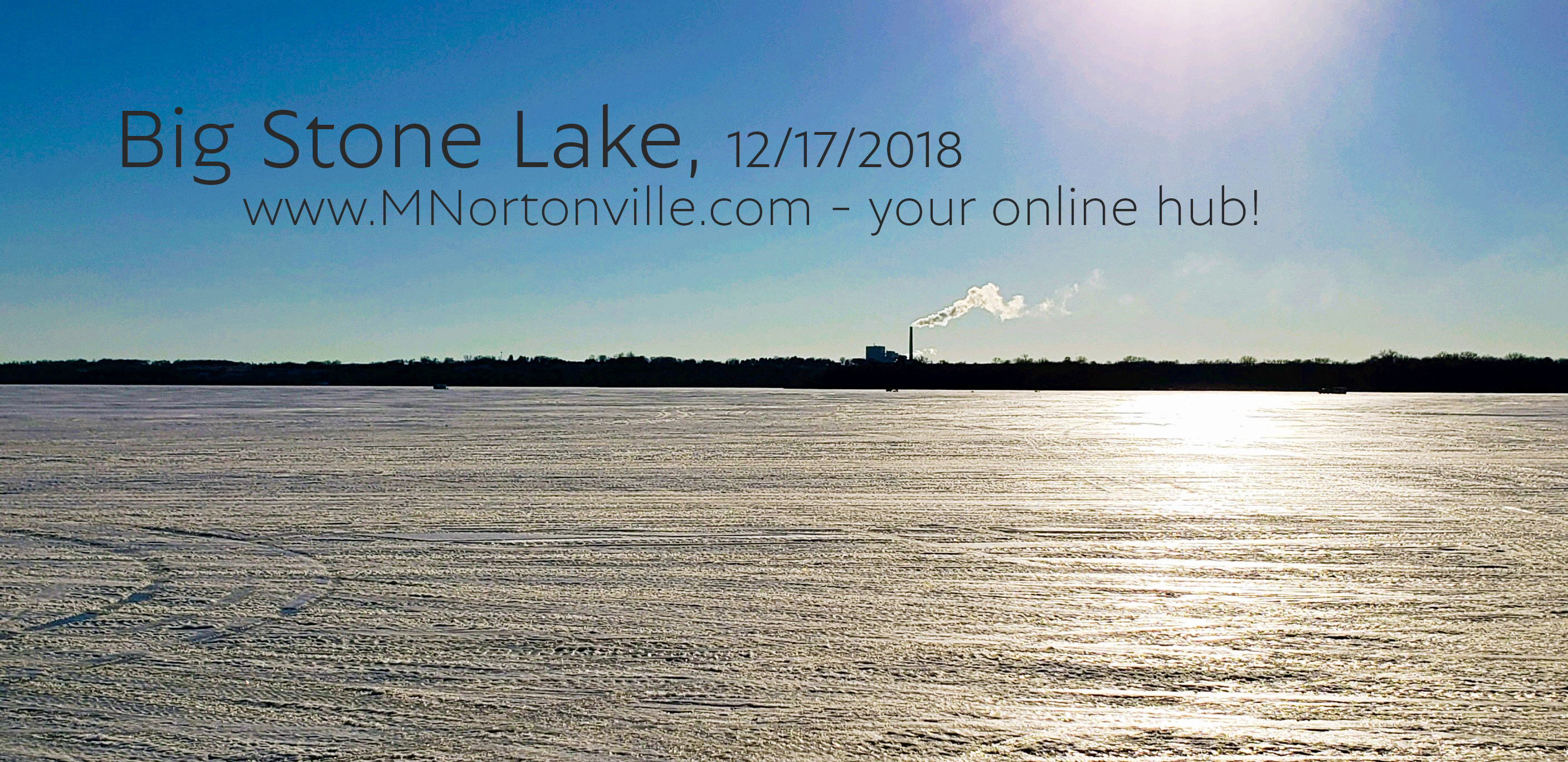Fishing & Big Stone Lake December 2018