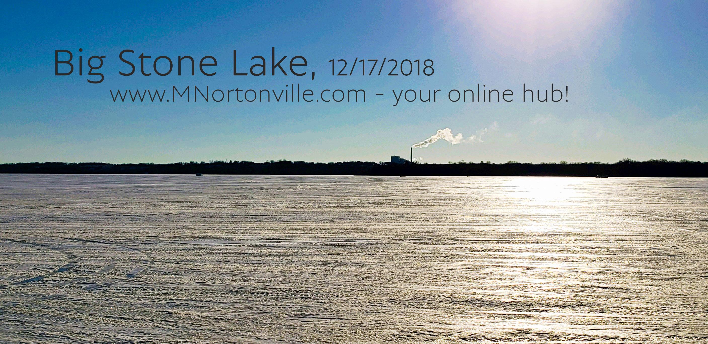 Fishing & Big Stone Lake December 2018