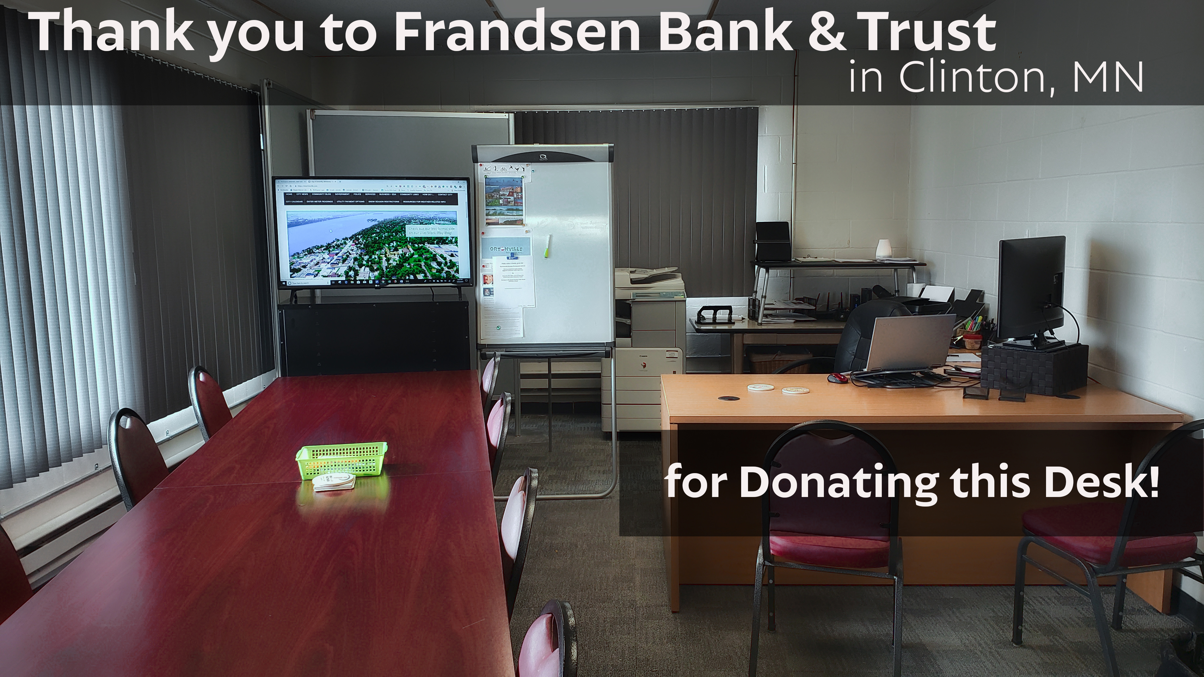 Thank you to Frandsen Bank & Trust!