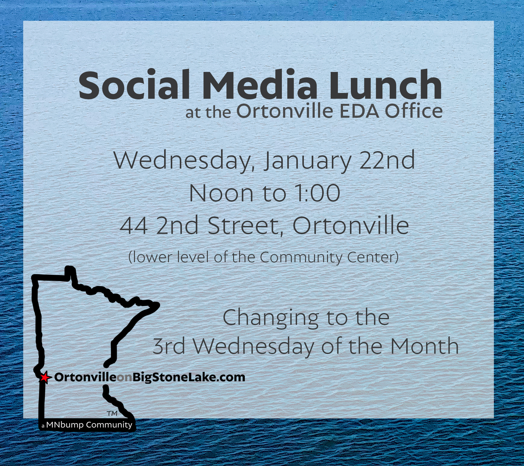 Social Media Lunch, January 22nd